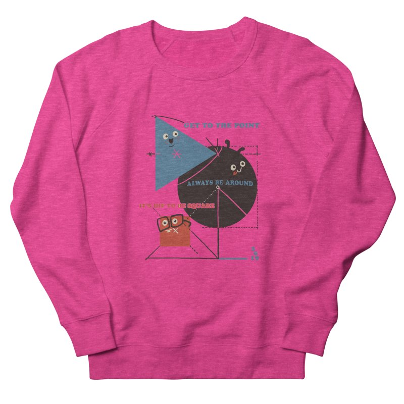 The Bauhaus School of Shapes Men's French Terry Sweatshirt by Thomas Orrow