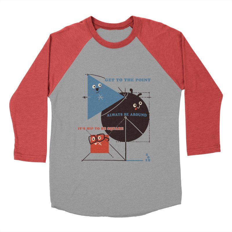 The Bauhaus School of Shapes Women's Baseball Triblend Longsleeve T-Shirt by Thomas Orrow