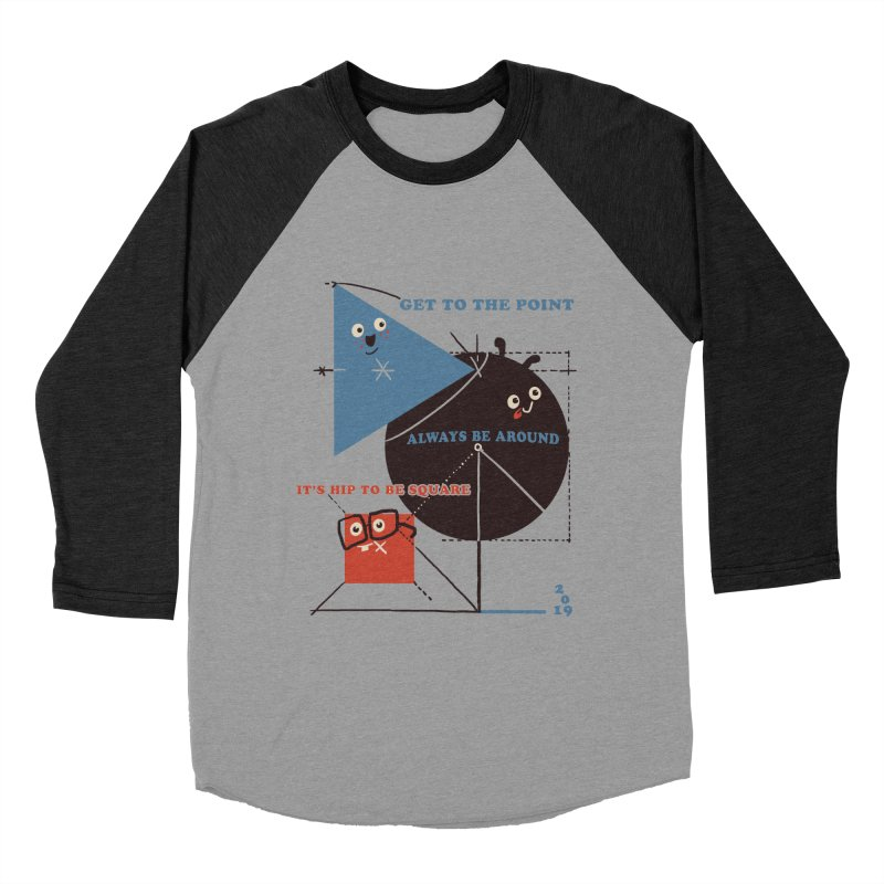 The Bauhaus School of Shapes Women's Baseball Triblend Longsleeve T-Shirt by Thomas Orrow