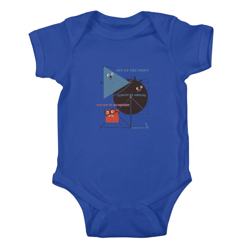The Bauhaus School of Shapes Kids Baby Bodysuit by Thomas Orrow