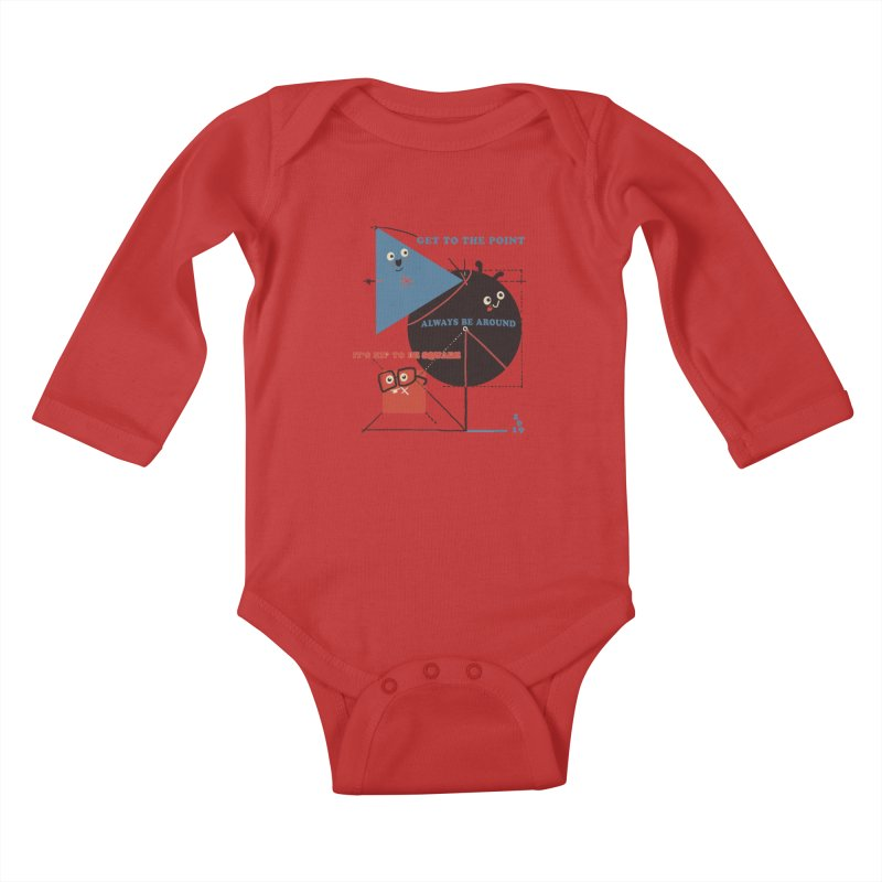 The Bauhaus School of Shapes Kids Baby Longsleeve Bodysuit by Thomas Orrow