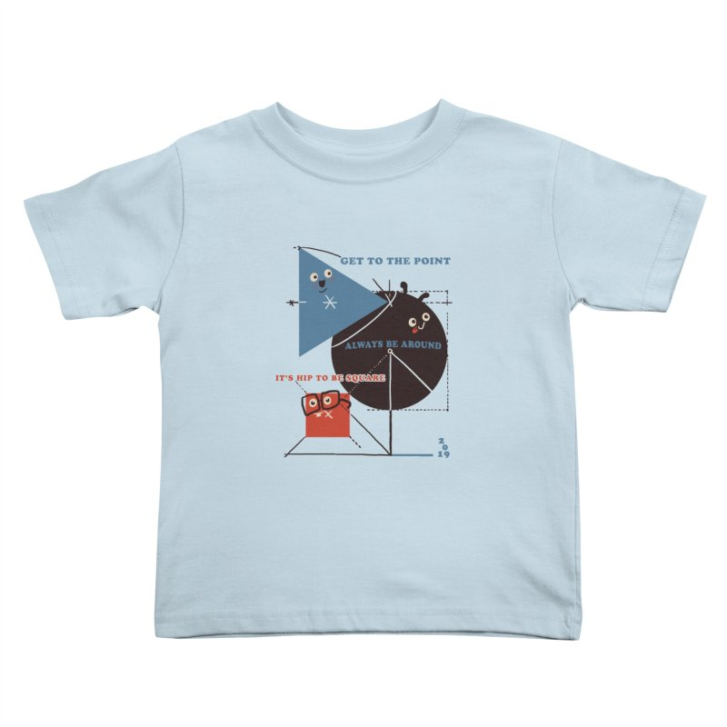 The Bauhaus School of Shapes Kids Toddler T-Shirt by Thomas Orrow