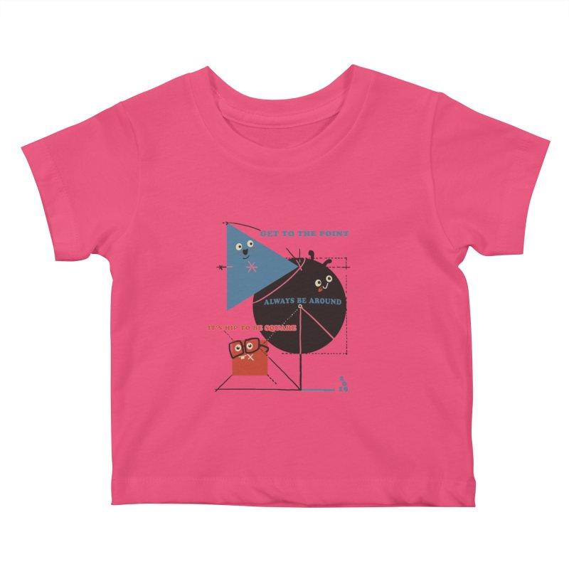 The Bauhaus School of Shapes Kids Baby T-Shirt by Thomas Orrow