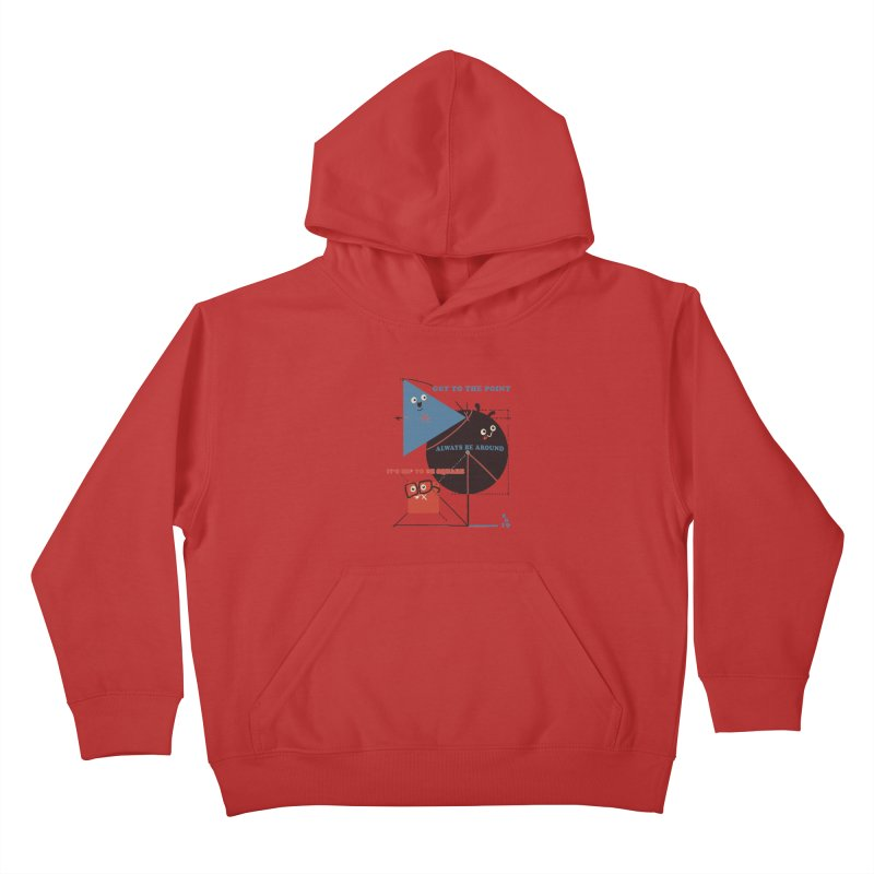 The Bauhaus School of Shapes Kids Pullover Hoody by Thomas Orrow