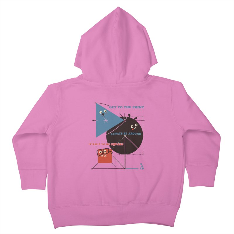 The Bauhaus School of Shapes Kids Toddler Zip-Up Hoody by Thomas Orrow