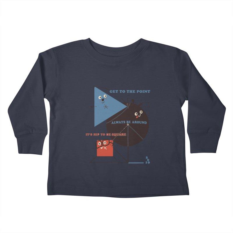 The Bauhaus School of Shapes Kids Toddler Longsleeve T-Shirt by Thomas Orrow