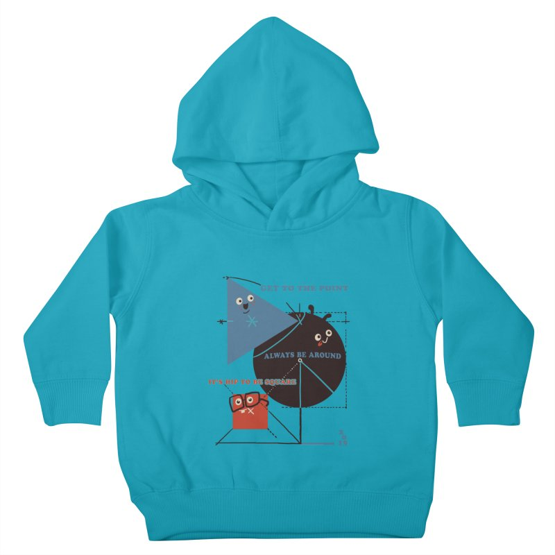 The Bauhaus School of Shapes Kids Toddler Pullover Hoody by Thomas Orrow