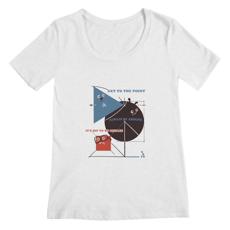 The Bauhaus School of Shapes Women's Regular Scoop Neck by Thomas Orrow
