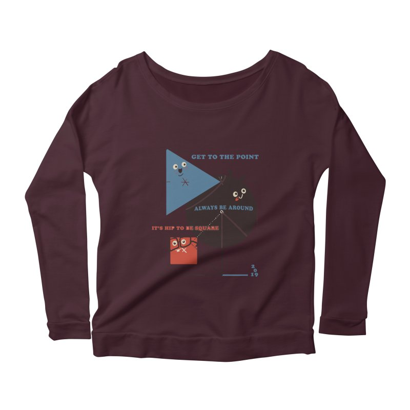 The Bauhaus School of Shapes Women's Scoop Neck Longsleeve T-Shirt by Thomas Orrow