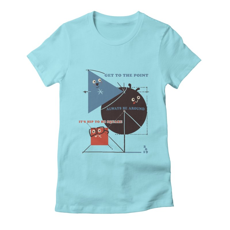 The Bauhaus School of Shapes Women's Fitted T-Shirt by Thomas Orrow
