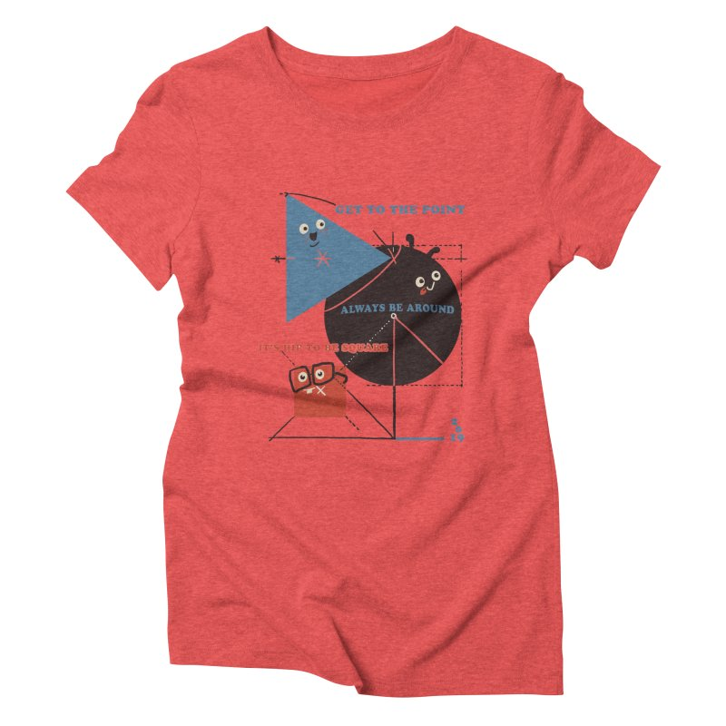 The Bauhaus School of Shapes Women's Triblend T-Shirt by Thomas Orrow