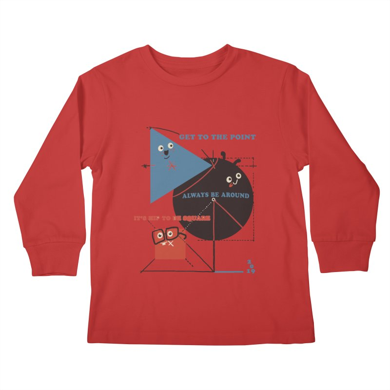 The Bauhaus School of Shapes Kids Longsleeve T-Shirt by Thomas Orrow