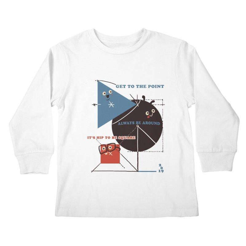 The Bauhaus School of Shapes Kids Longsleeve T-Shirt by Thomas Orrow