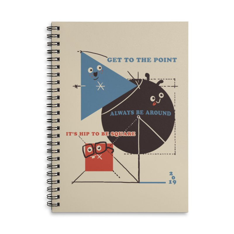 The Bauhaus School of Shapes Accessories Lined Spiral Notebook by Thomas Orrow