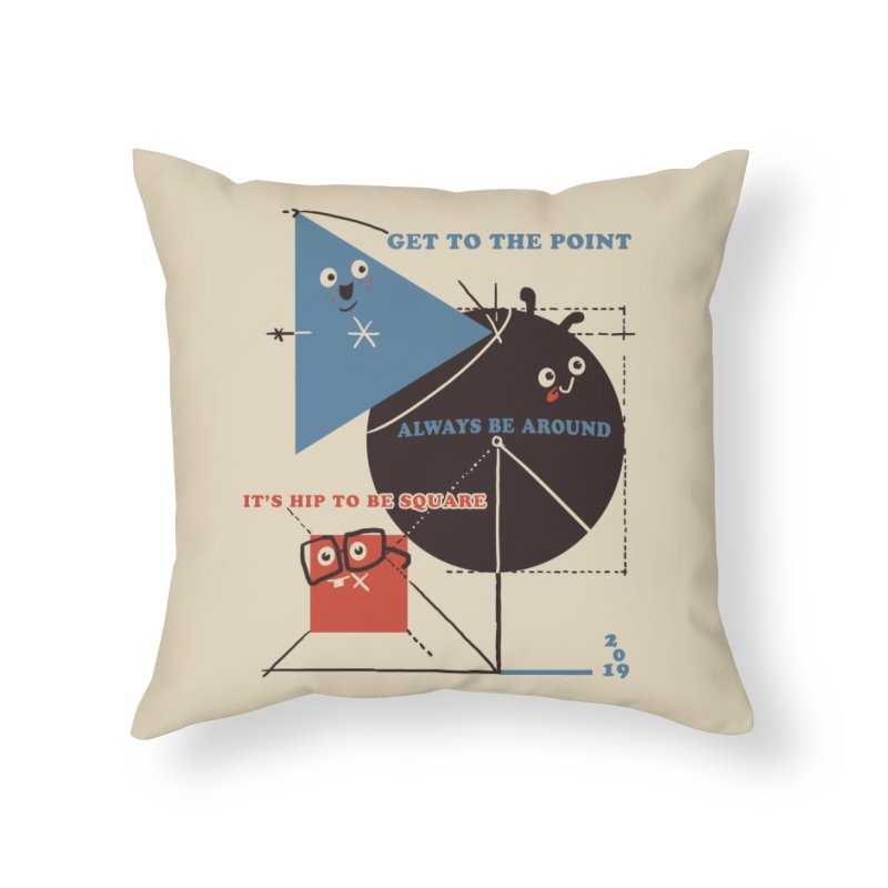 The Bauhaus School of Shapes Home Throw Pillow by Thomas Orrow