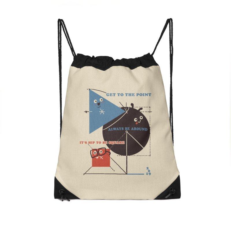 The Bauhaus School of Shapes Accessories Drawstring Bag Bag by Thomas Orrow