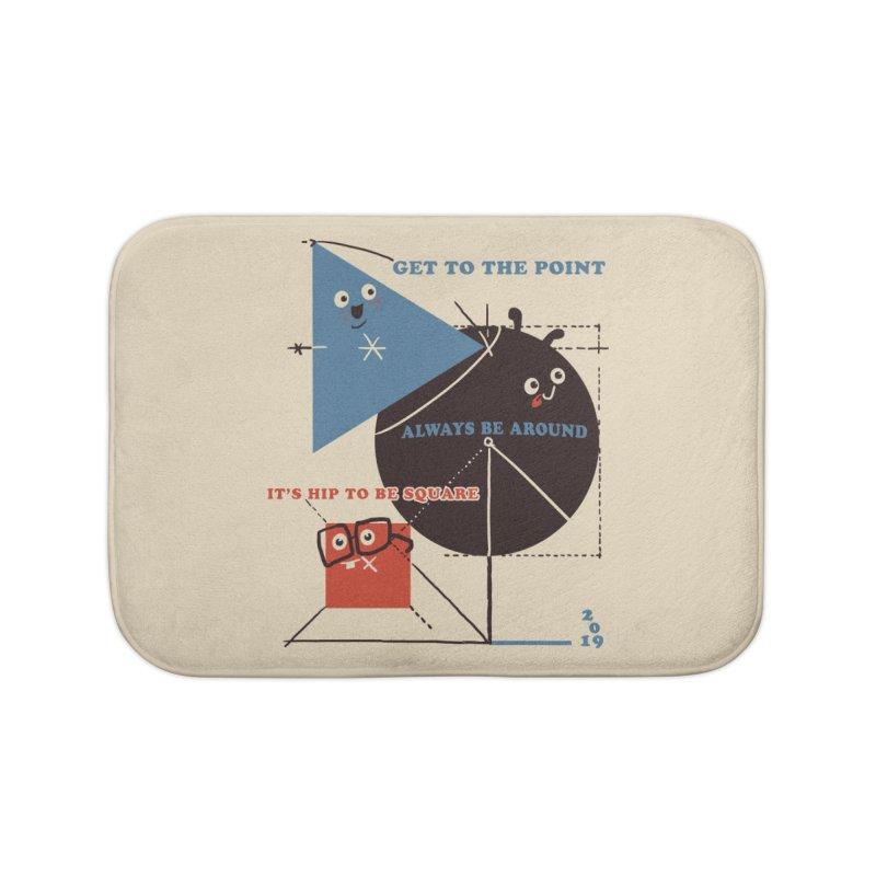 The Bauhaus School of Shapes Home Bath Mat by Thomas Orrow