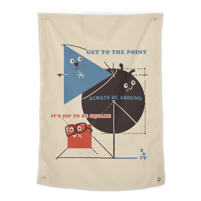 The Bauhaus School of Shapes Home Tapestry by Thomas Orrow