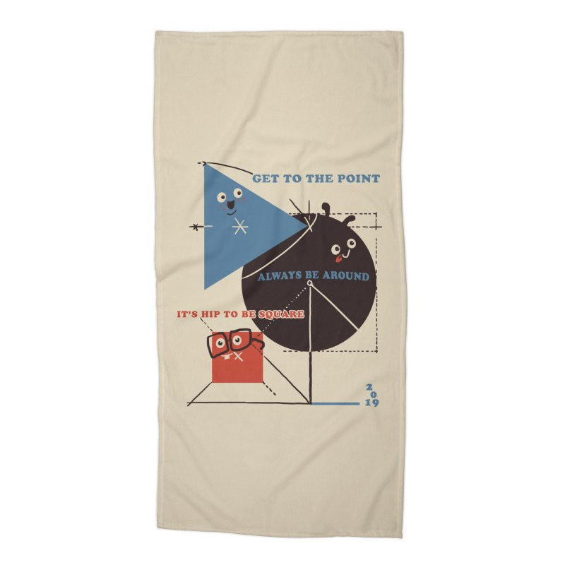 The Bauhaus School of Shapes Accessories Beach Towel by Thomas Orrow