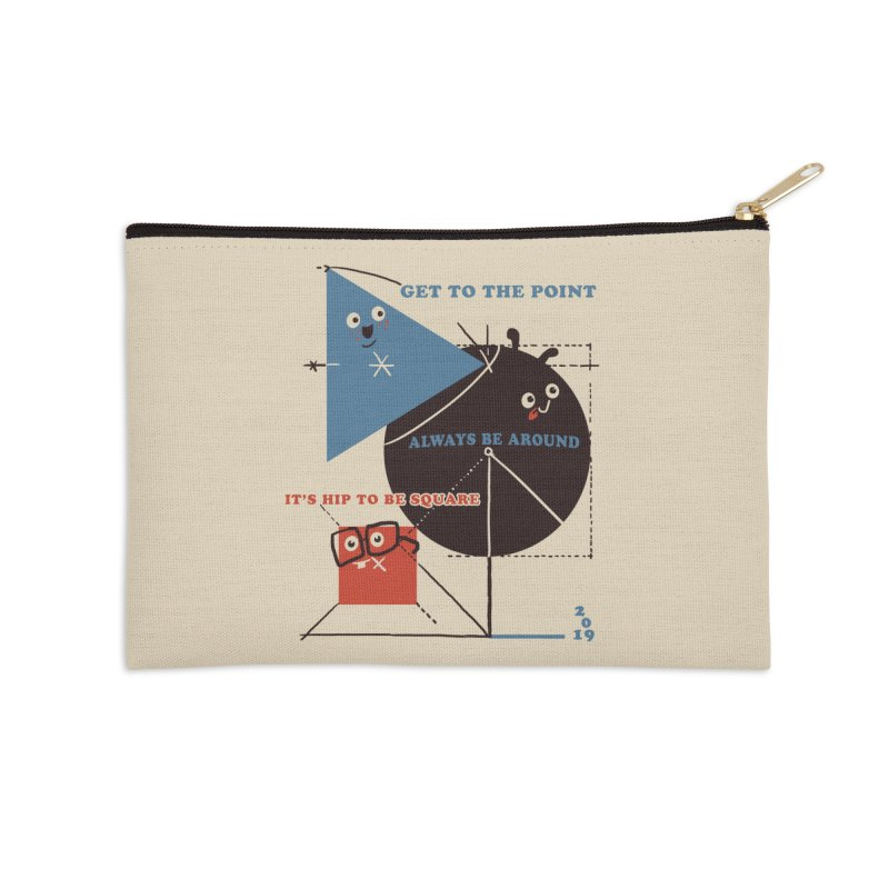 The Bauhaus School of Shapes Accessories Zip Pouch by Thomas Orrow