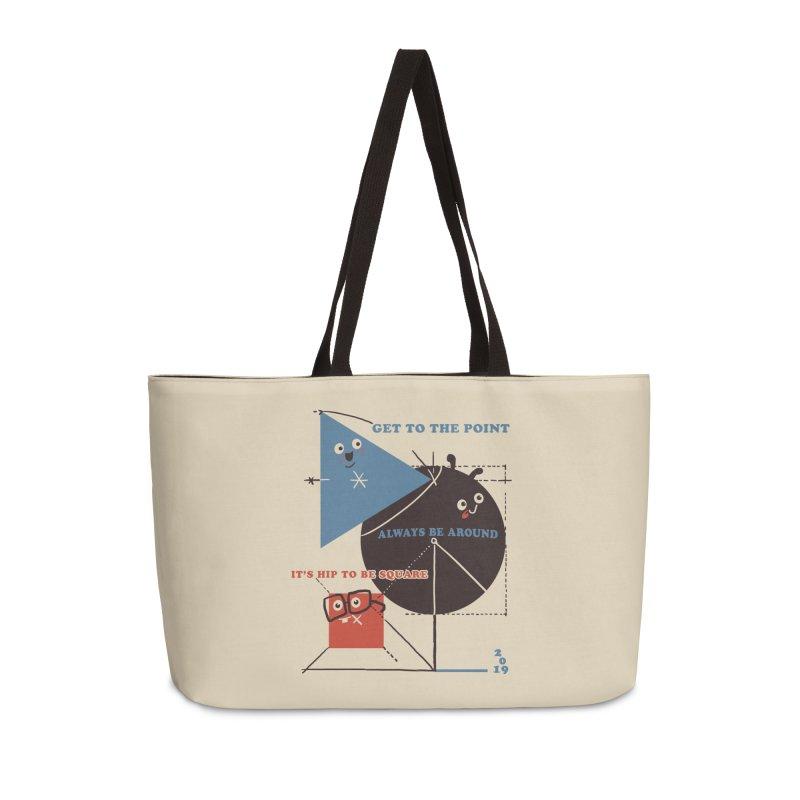 The Bauhaus School of Shapes Accessories Weekender Bag Bag by Thomas Orrow