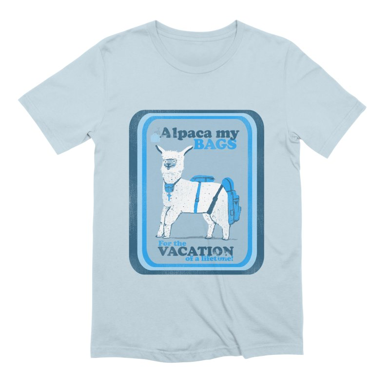 Alpaca My Bags Men's Extra Soft T-Shirt by Thomas Orrow