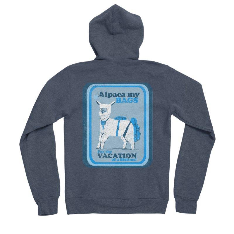 Alpaca My Bags Men's Sponge Fleece Zip-Up Hoody by Thomas Orrow