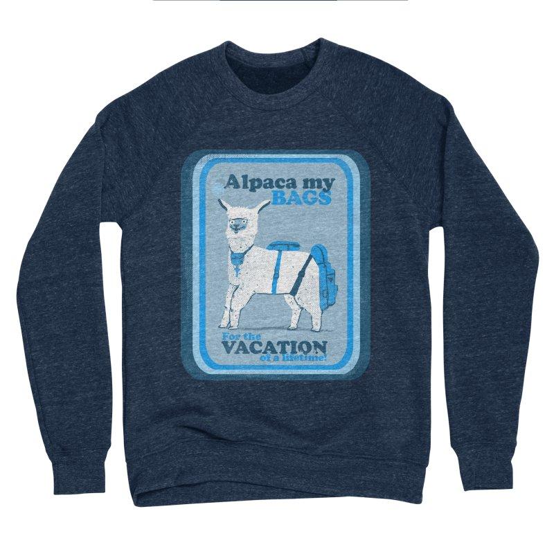 Alpaca My Bags Women's Sponge Fleece Sweatshirt by Thomas Orrow