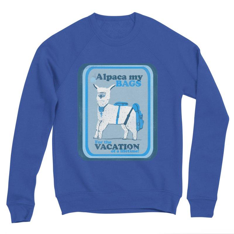 Alpaca My Bags Men's Sponge Fleece Sweatshirt by Thomas Orrow