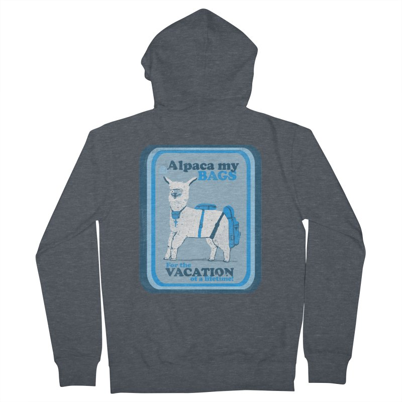Alpaca My Bags Women's French Terry Zip-Up Hoody by Thomas Orrow