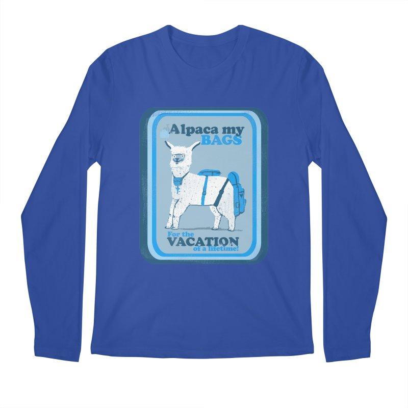 Alpaca My Bags Men's Regular Longsleeve T-Shirt by Thomas Orrow