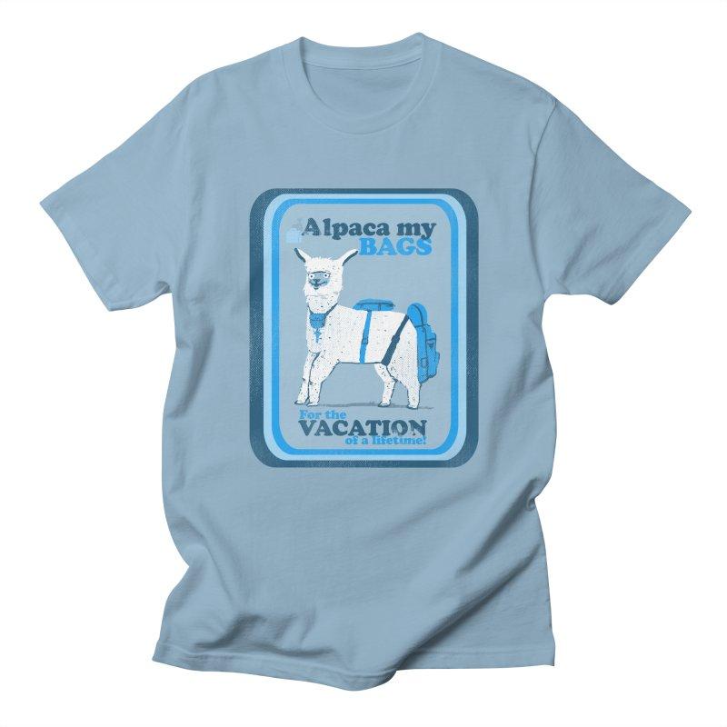Alpaca My Bags Men's Regular T-Shirt by Thomas Orrow