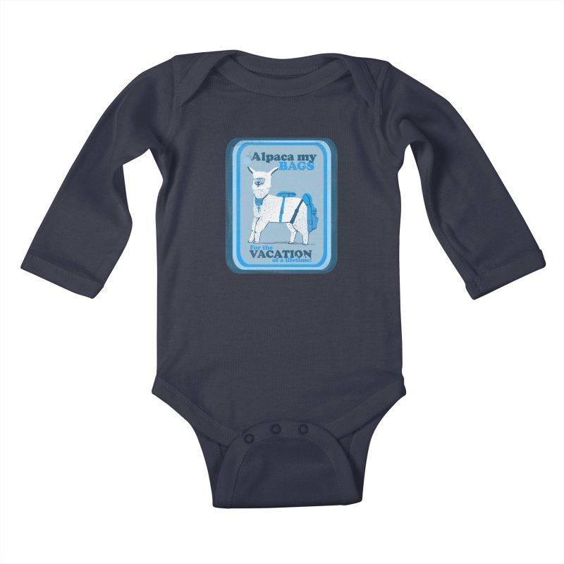 Alpaca My Bags Kids Baby Longsleeve Bodysuit by Thomas Orrow