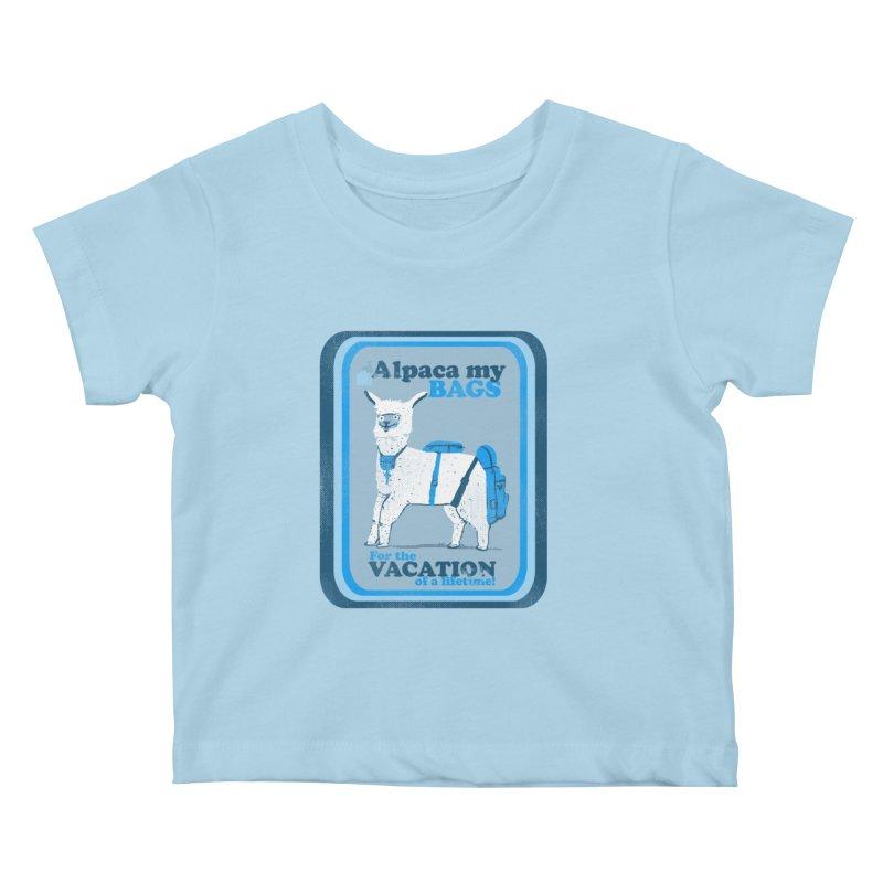 Alpaca My Bags Kids Baby T-Shirt by Thomas Orrow