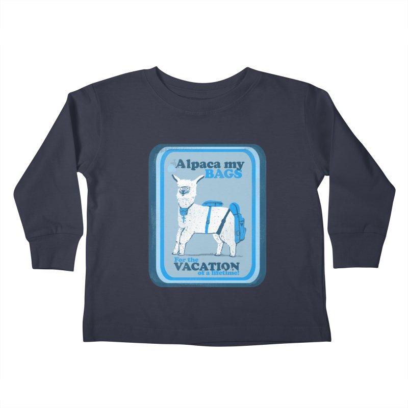 Alpaca My Bags Kids Toddler Longsleeve T-Shirt by Thomas Orrow