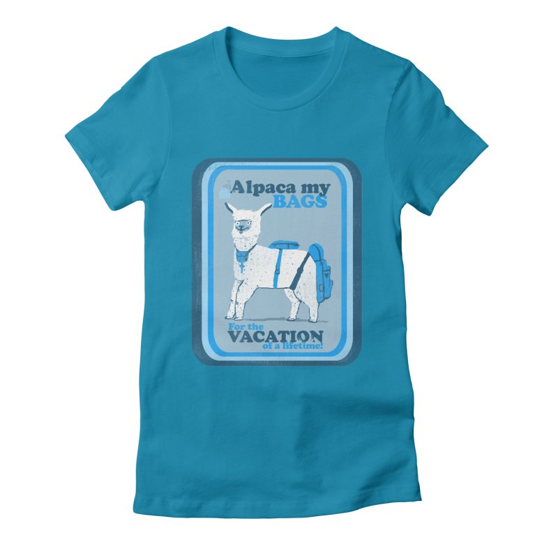 Alpaca My Bags Women's Fitted T-Shirt by Thomas Orrow