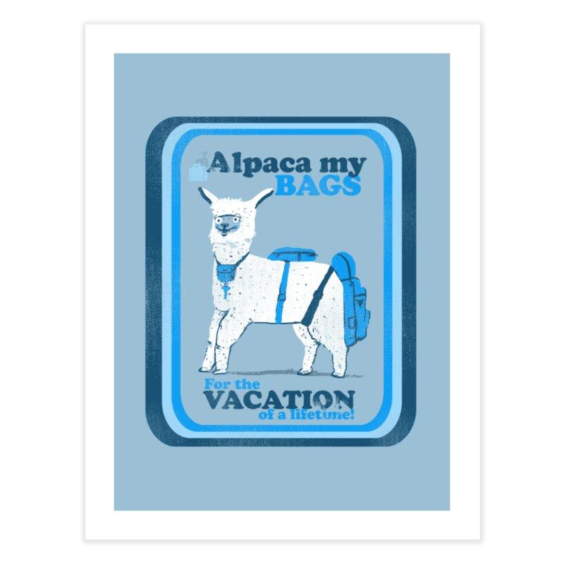 Alpaca My Bags Home Fine Art Print by Thomas Orrow
