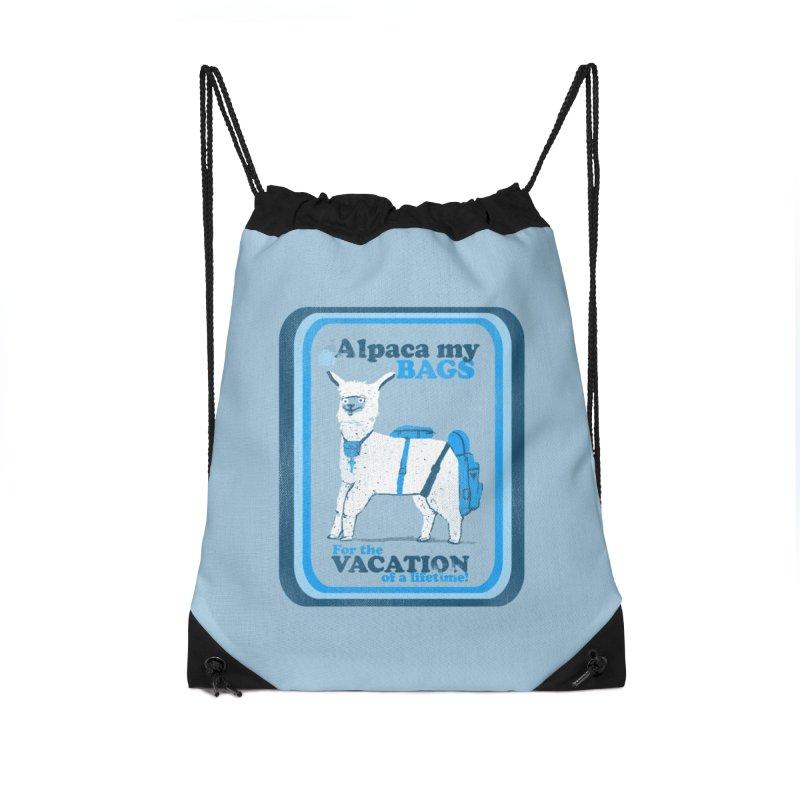 Alpaca My Bags Accessories Drawstring Bag Bag by Thomas Orrow