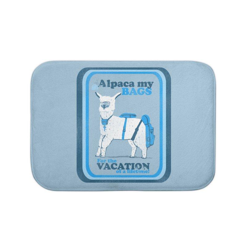 Alpaca My Bags Home Bath Mat by Thomas Orrow