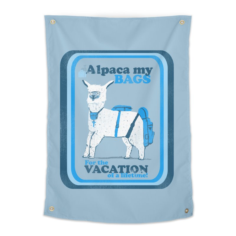 Alpaca My Bags Home Tapestry by Thomas Orrow