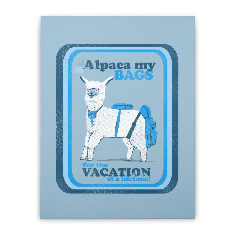 Alpaca My Bags Home Stretched Canvas by Thomas Orrow