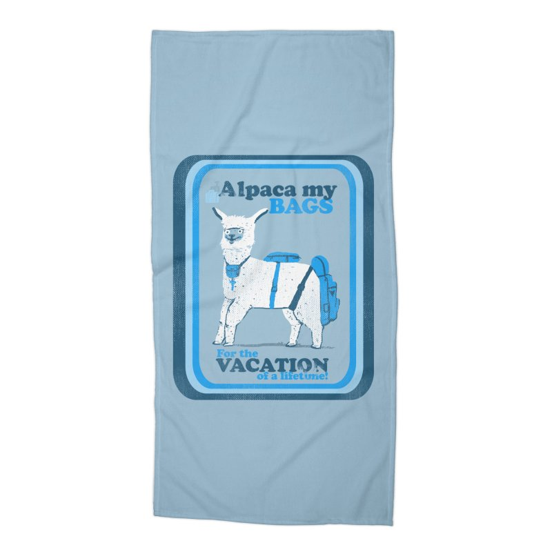 Alpaca My Bags Accessories Beach Towel by Thomas Orrow