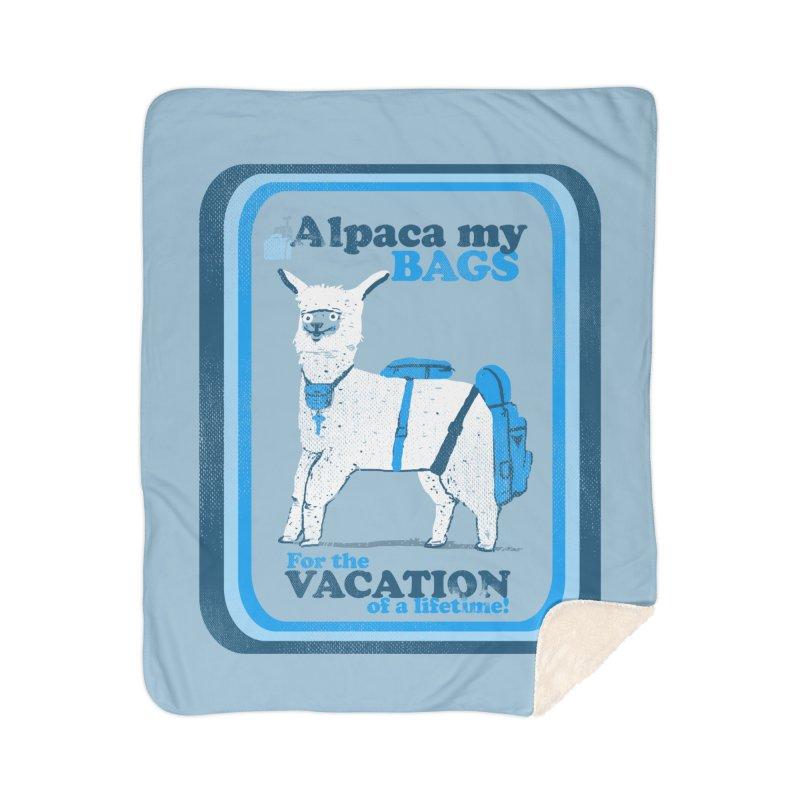 Alpaca My Bags Home Sherpa Blanket Blanket by Thomas Orrow