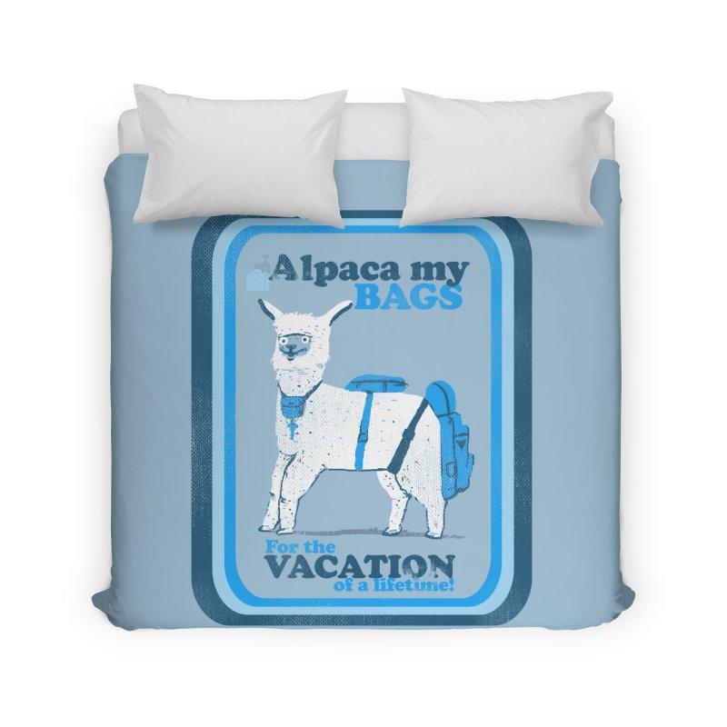 Alpaca My Bags Home Duvet by Thomas Orrow