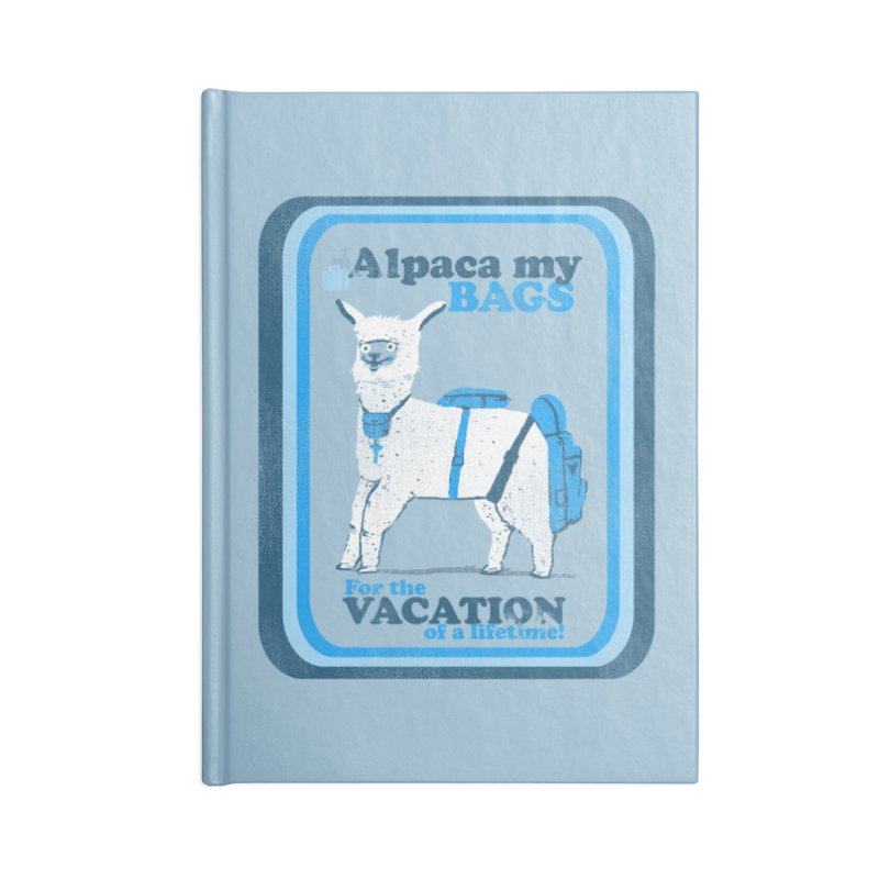 Alpaca My Bags Accessories Blank Journal Notebook by Thomas Orrow