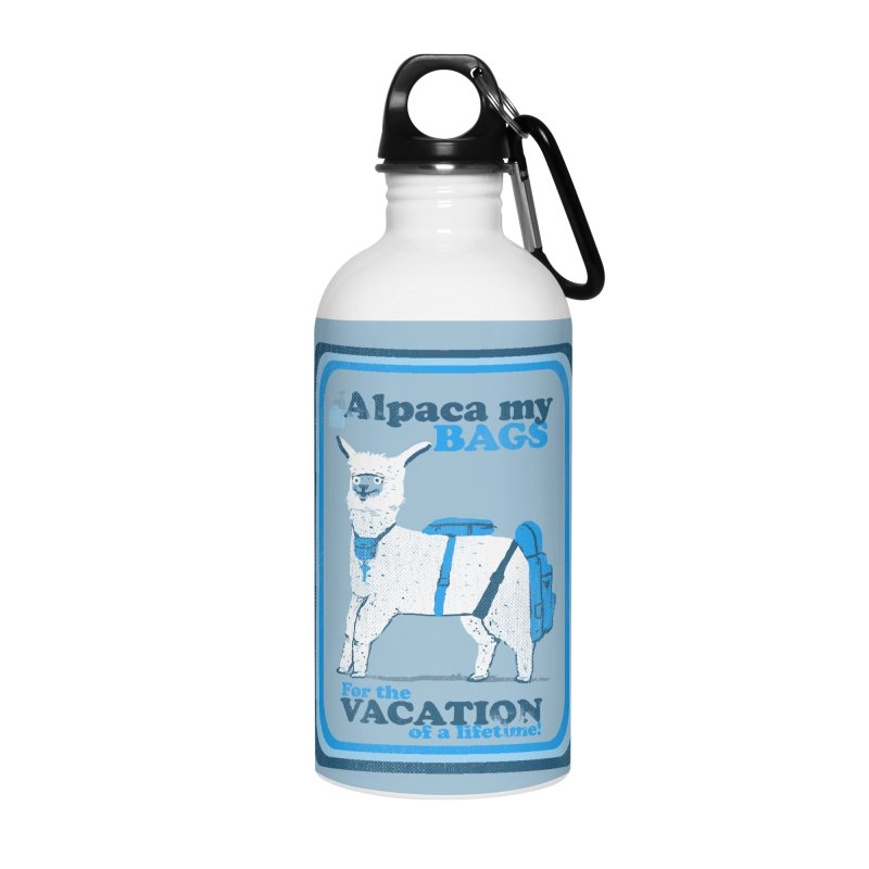 Alpaca My Bags Accessories Water Bottle by Thomas Orrow