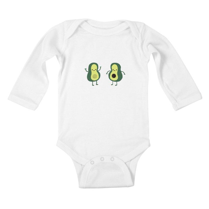 Avocado Avocadon't Kids Baby Longsleeve Bodysuit by Thomas Orrow