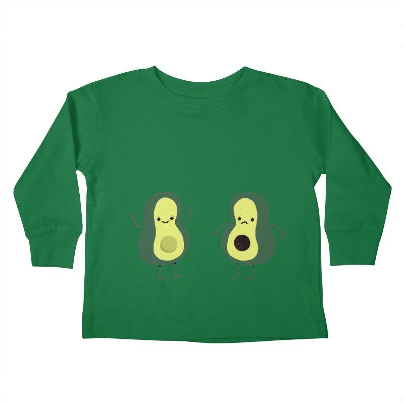 Avocado Avocadon't Kids Toddler Longsleeve T-Shirt by Thomas Orrow