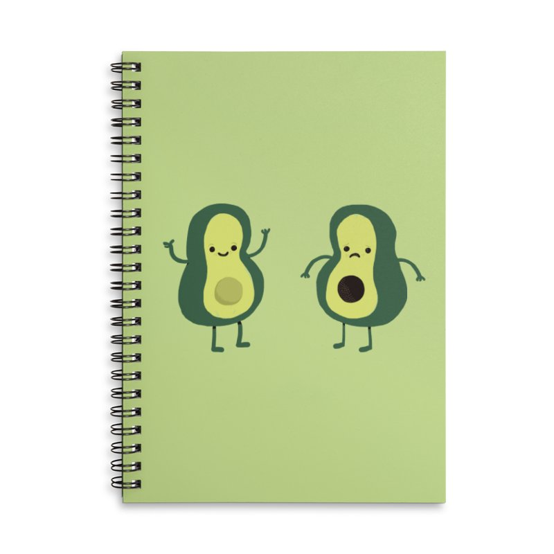 Avocado Avocadon't Accessories Lined Spiral Notebook by Thomas Orrow