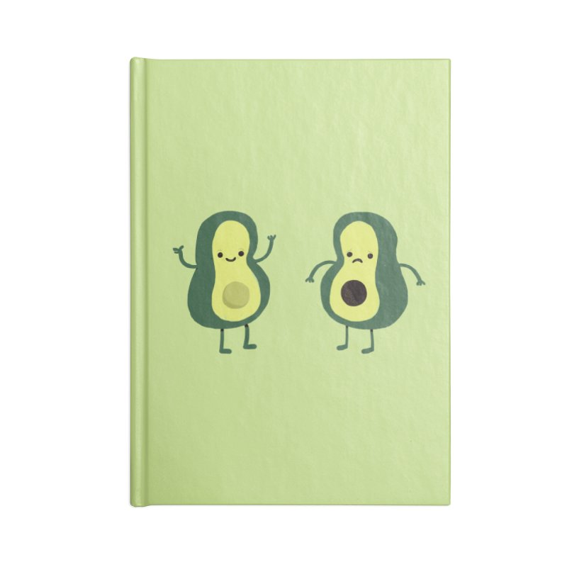 Avocado Avocadon't Accessories Blank Journal Notebook by Thomas Orrow